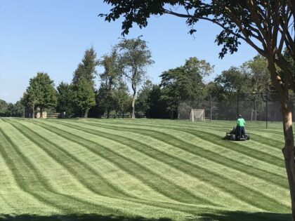 lawn mowing practices on the green inc